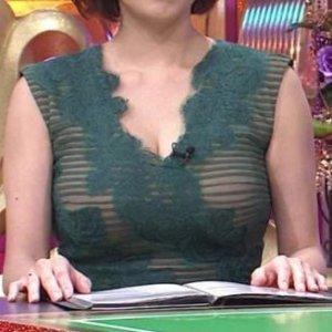 【衝撃画像】高橋真麻アナ(34)シースルーであの巨乳が透けて浮き出ている…
