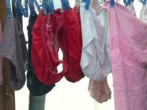 洗濯物 盗撮画像51枚 近所のお姉さんのエッチなブラやパンティを隠し撮り!のイメージ