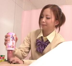 JKの手コキ動画を大量に集めてみたwのサムネイル画像