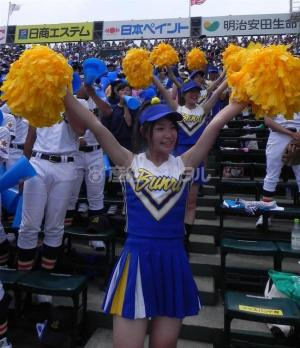 甲子園を応援するチアガールのチラ見えエロ画像!!のサムネイル画像
